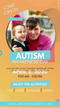 Orange Autism Awareness Day Instagram Story