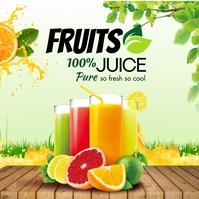 Orange Beverage Instagram Post template