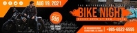 Orange Bike Night Event 2'x8' Banner Template