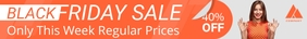 Orange Black Friday Etsy Banner template