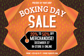 Orange Boxing Day Landscape Poster template