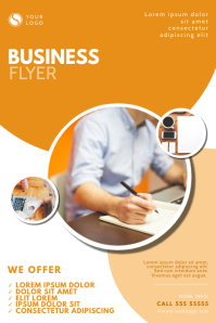 orange Business Flyer Design Template Cartaz