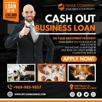 Orange Business Loan Company Instagram Post T Carré (1:1) template