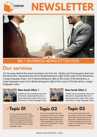 Orange Business Newsletter Design
