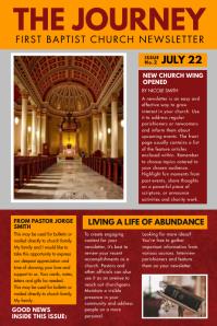 Orange Church Newspaper Ad Flyer Template Cartaz