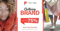 Orange Clothing brand ads auf Facebook geteiltes Bild template