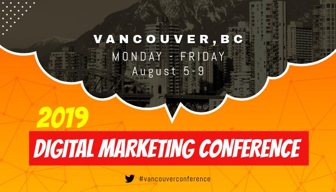 Orange Conference Guide Blog Header template