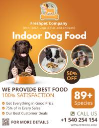 Orange dog food social media post ใบปลิว (US Letter) template