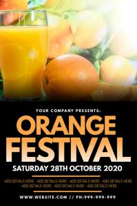 Orange Festival Poster