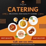 Orange Food Catering Service Instagram Post T template