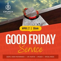 Orange Good Friday Square Video 方形(1:1) template