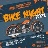 Orange Grunge Bike Night Event Instagram Post template