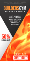 Orange Gym Rollup Banner