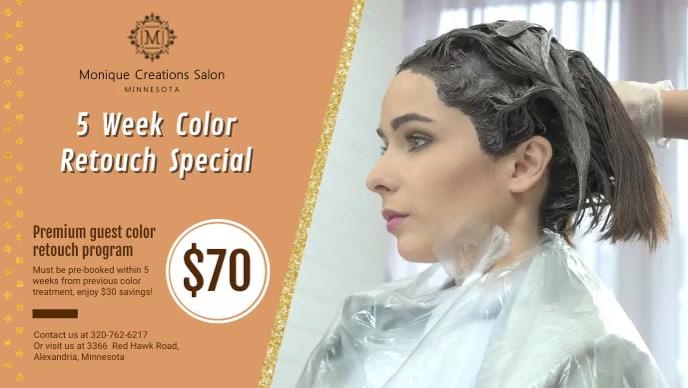 Orange Hair Salon New Offer Banner