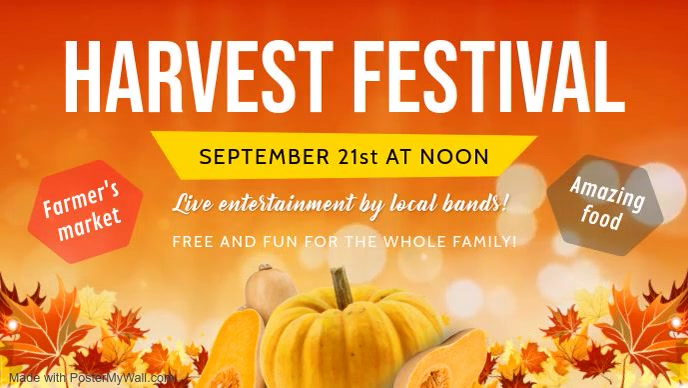 Orange Harvest Festival Event Facebook Cover
