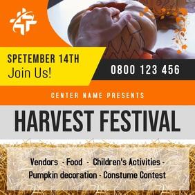 Orange Harvest Festival Square Video Cuadrado (1:1) template