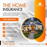 Orange Home Insurance Adverstiment Instagram template