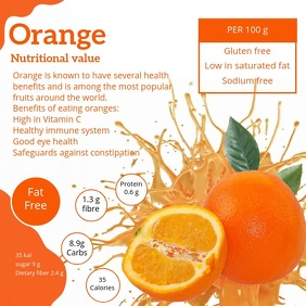 Orange Informative Facts Video