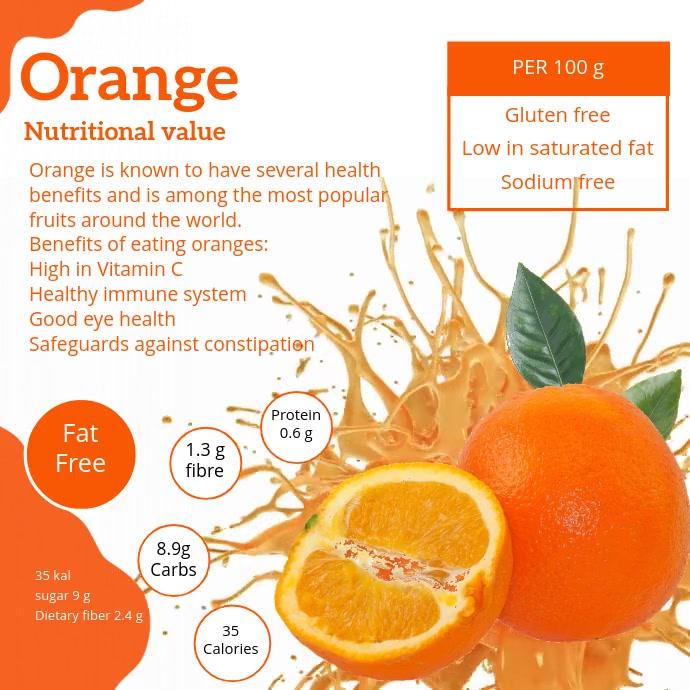 Orange Informative Facts Video Instagram Post template