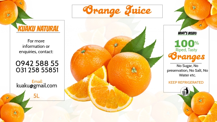Orange Juice Digitalt display (16:9) template