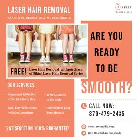 Orange Laser Hair Removal Ad