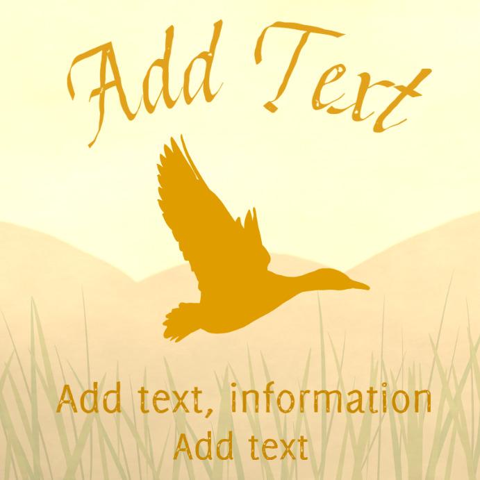 orange mallard wild duck instagram customizable template