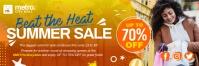 Orange Modern Summer Sale 2' x 6' Banner Temp template
