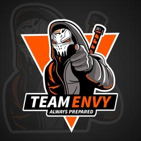 Orange Ninja Esports Team Logo
