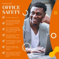 Orange Office Safety Square Image Post Instagram template