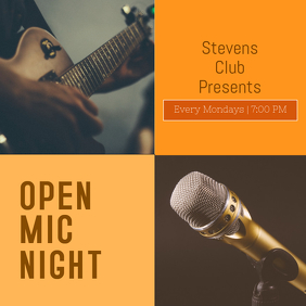 Orange Open mic night Template