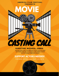 Orange Play Auditions Casting Call Flyer
