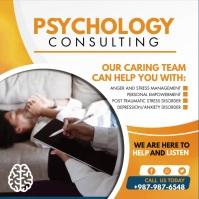 Orange Psychology Consultant Instagram Video Square (1:1) template