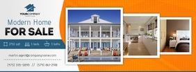 Orange Real Estate Facebook Cover Photo Zdjęcie w tle na Facebooka template