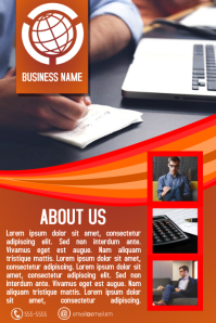 orange red multipurpose small business flyer template