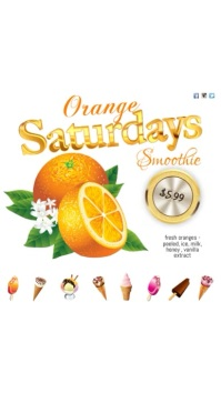 Orange Saturdays Video Ekran reklamowy (9:16) template