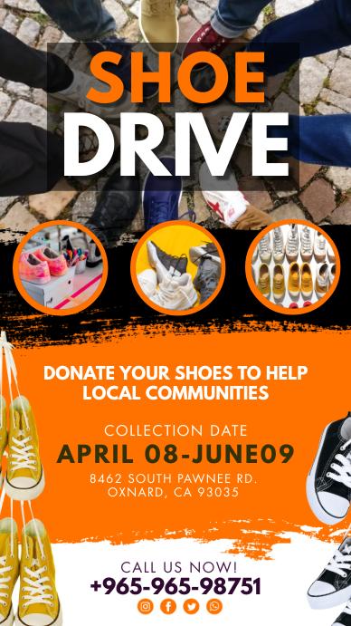 Orange Shoe Drive Instagram Story Template
