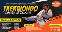 Orange Taekwondo Classes Facebook Post Templa template