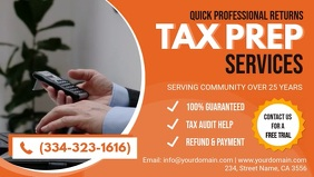 Orange Tax Preperation Service Facebook Header template
