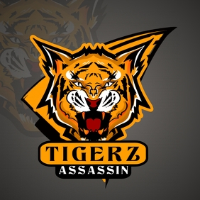 Orange Tiger Gamer Esports Logo