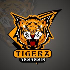 Orange Tiger Gamer Esports Logo