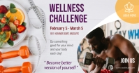 Orange Wellness Challenge Facebook Post Templ template