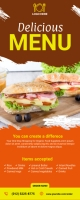 Order Food Delivery Roll Up Banner Rolbanner 2' × 5' template