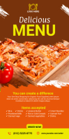 Order Food Delivery Roll Up Banner template
