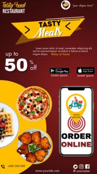 Order Food Online Menu Digitalt display (9:16) template