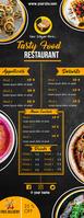 Order food online/ Restaurant menu Media Página Carta template