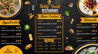 Order food online/ Restaurant menu Digitalt display (16:9) template