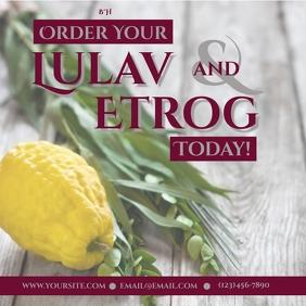 Order Lulav and Etrog Instagram-opslag template