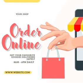 ORDER ONLINE SHOP AD Template Square (1:1)