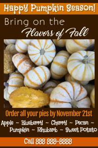 Order Pumpkin Pies Poster
