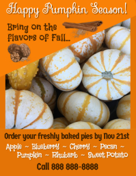Order Pumpkin Pies Flyer